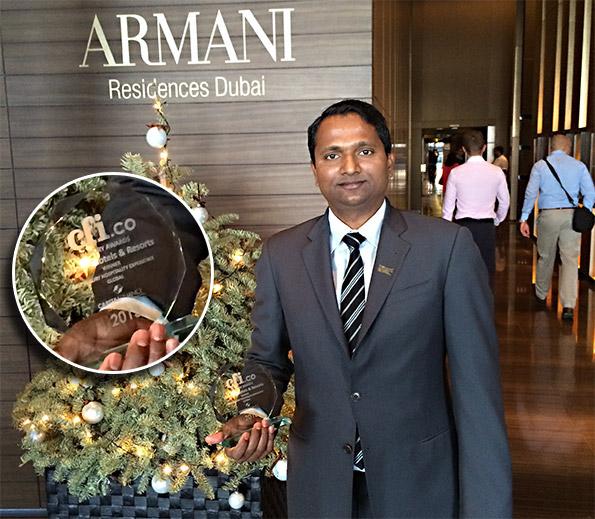 CFI.co award received in Dubai, UAE