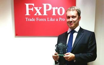 FxPro Financial Services is the 2014 Winner of the CFI.co Award for 'Best FX Execution, Global'