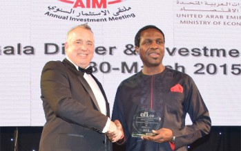 At AIM 2015: Sahara Group's Tonye Cole Receives CFI.co Recognition for Outstanding Contribution to Youth Education in Africa