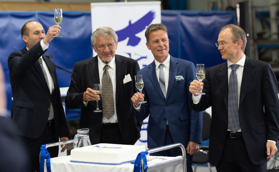 The ownership and top management in Eagle. From left: General Manager, Eagle Technology Bosnia, Ivo Klaric, founder of Eagle, Einar Myklebust, CEO of Eagle Technology, Roy Moberg and CEO of Eagle Group Pål Myklebust.