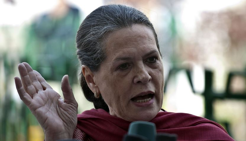 Sonia Gandhi, President of the Indian National Congress