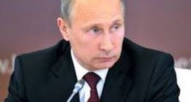 Mr Putin Spills His Coffee Reading the Morning Paper
