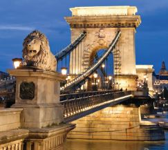 Hungary: The Chain Bridge in Budapest
