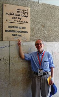 """In a dusty desert town in Egypt, I happened to run across a local example of the practical impact of international assistance to developing countries. A prominent plaque on the courtyard wall of the Al-Saida Preparatory School in the town of Markaz Sherbin declares, """"This school has been established in co-operation with [the] World Bank."""""""