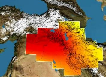 NASA satellites reveal massive water loss in the Middle East.  NASA