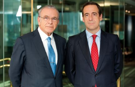Isidro Fainé, Chairman of CaixaBank and Gonzalo Gortázar, CEO