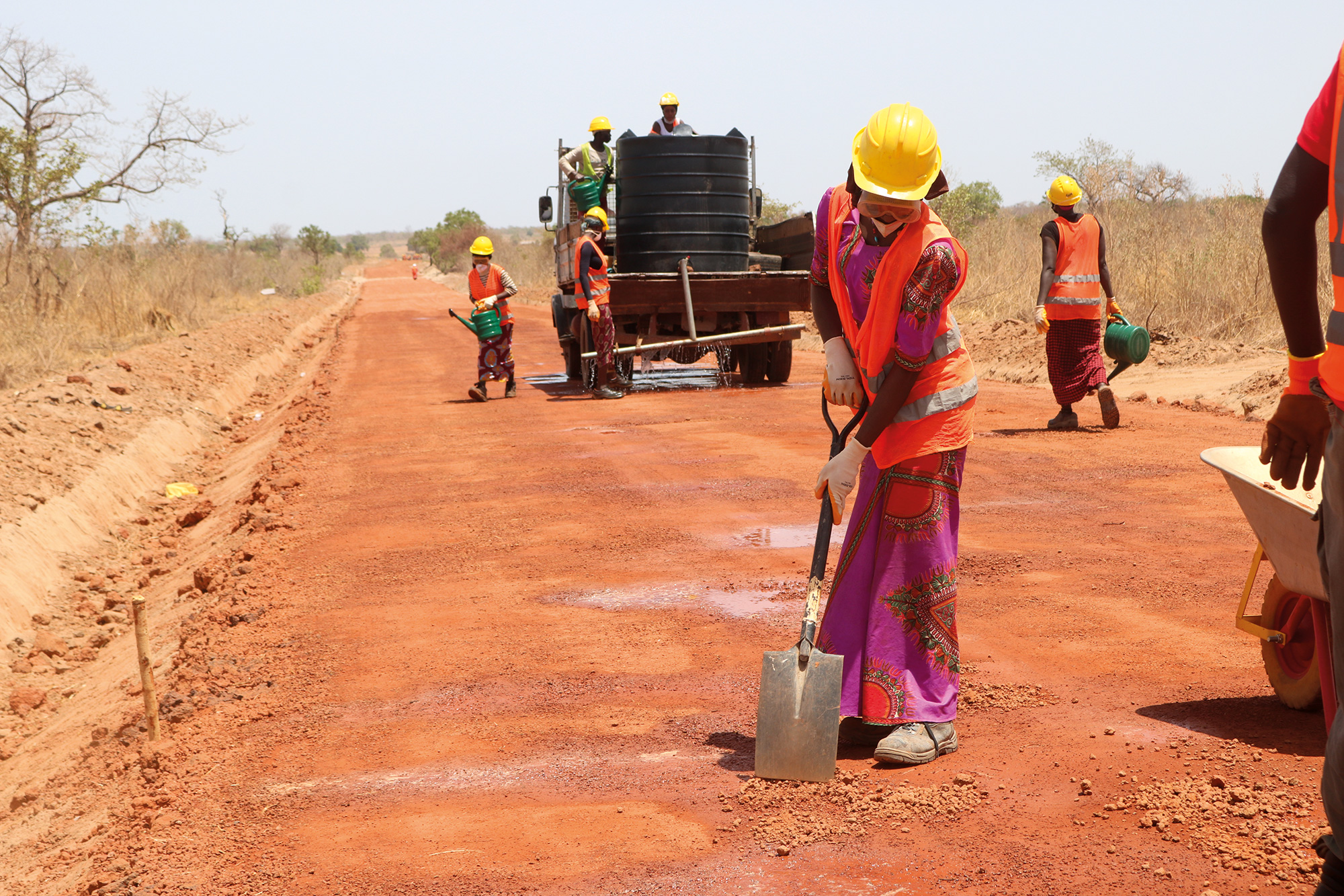 UNOPS is encouraging more women to work in the construction industry as part of a road infrastructure project in The Gambia. Photo credit: ©UNOPS