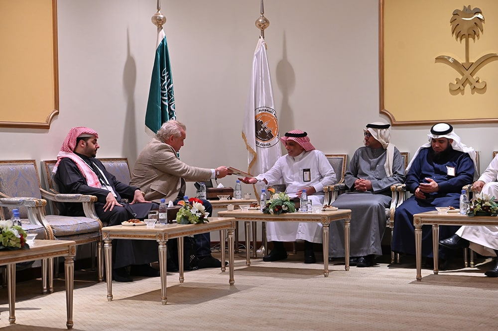 Fahd Al-Rasheed, CEO of the Royal Commission for Jubail and Yanbu meeting with Tor Svensson, Chairman of Capital Finance International (CFI.co)