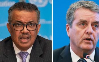 Heads of WTO, WHO cite importance of open trade in ensuring flow of vital medical supplies