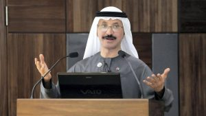 Sultan Ahmed bin Sulayem, chairman and CEO of DP World. Pawan Singh / The National