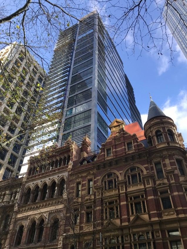 477 Collins Street, Melbourne, Australia (50% owned by Suntec REIT). It is the first building in Australia to achieve a Platinum Core and Shell Pre-Certification from the International WELL Building Institute (IWBI)