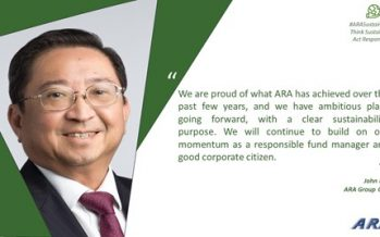ARA: REIT Pioneer Wins Recognition for its Transformative Efforts in Sustainability