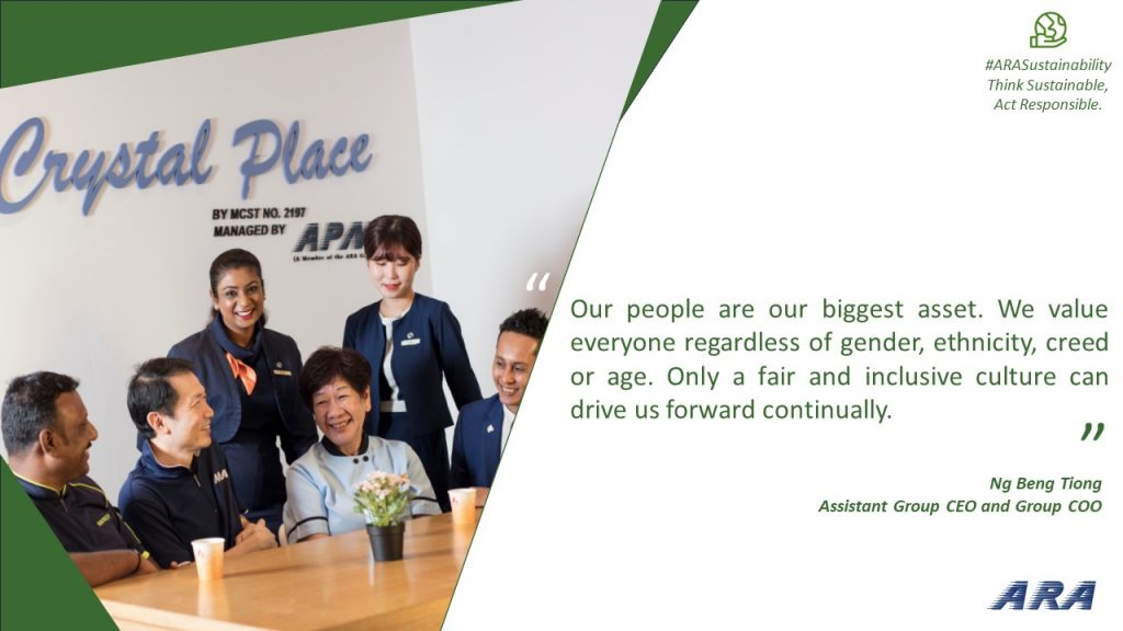 Quote from Assistant ARA Group CEO cum COO