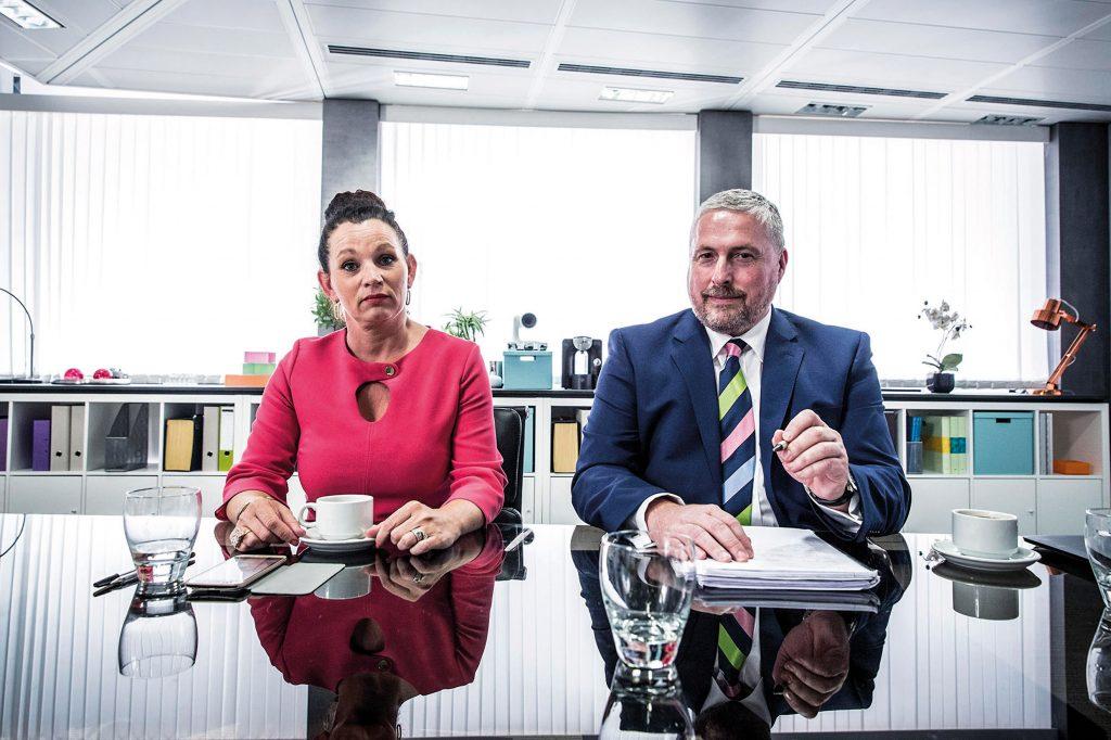 Low Cost Vans: Rod Lloyd CEO and Lorraine Kitchen HR Manager. Photo: Ryan Mcnamara