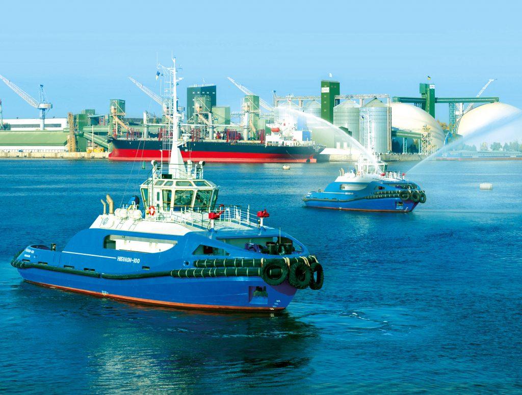 Mykolaiv, Ukraine: NIBULON's transshipment terminal and fleet