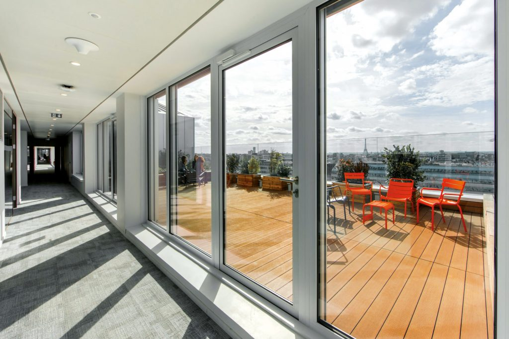 View from Season, SIACI SAINT HONORE's headquarters