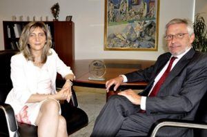 Pictured: Miquel Alabern, chairman, and Sandra Estebe, head of the group's management company.