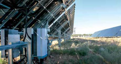 Delta's M50A PV inverters: featuring energy efficiency of up to 98.6%, used in Namibia's largest solar PV power plant.