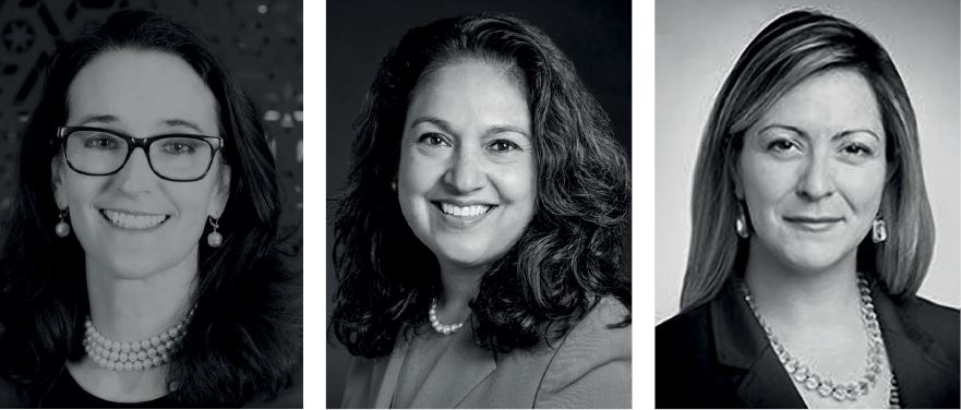 Teresa Barger, Emily Alejos, and Kate Ahern