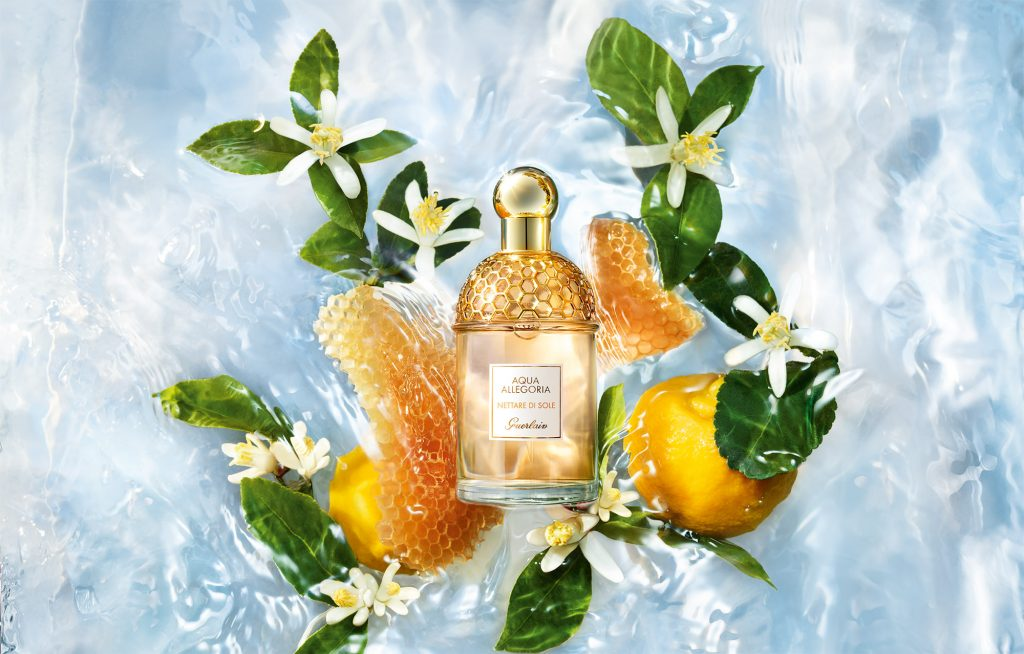 Guerlain's latest offering, Aqua Allegoria Nettare di Sole, features the iconic beehive laced bottle top